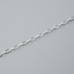 300527 Цепочка якорного плетения, цвет: серебро (50 см)