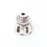 300532 Шапочка 'Колокольчик 2', ант. серебро (1 шт.)