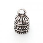 300548 концевик-шапочка, античное серебро (литьё)