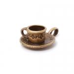 """300578 Подвеска """"Чайная пара"""" 3D, античная бронза"""