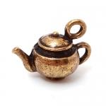 """300582 Подвеска """"Чайник"""" 3D, античная бронза"""