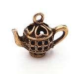 300602 Подвеска 'Чайник Ажурный' 3D, античная бронза