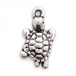 300609 Подвеска 'Сердце с завитками' 3D, античная бронза