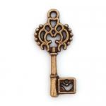 300624 Подвеска 'Ключ', античная бронза