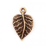 300630 Подвеска лист, античная бронза