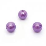 Бусины перламутровые (пластик), фиолетовый, 6 мм, 50 шт.