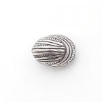 100100 Бусины акриловые 13х10 мм, ант. серебро (5 шт.)
